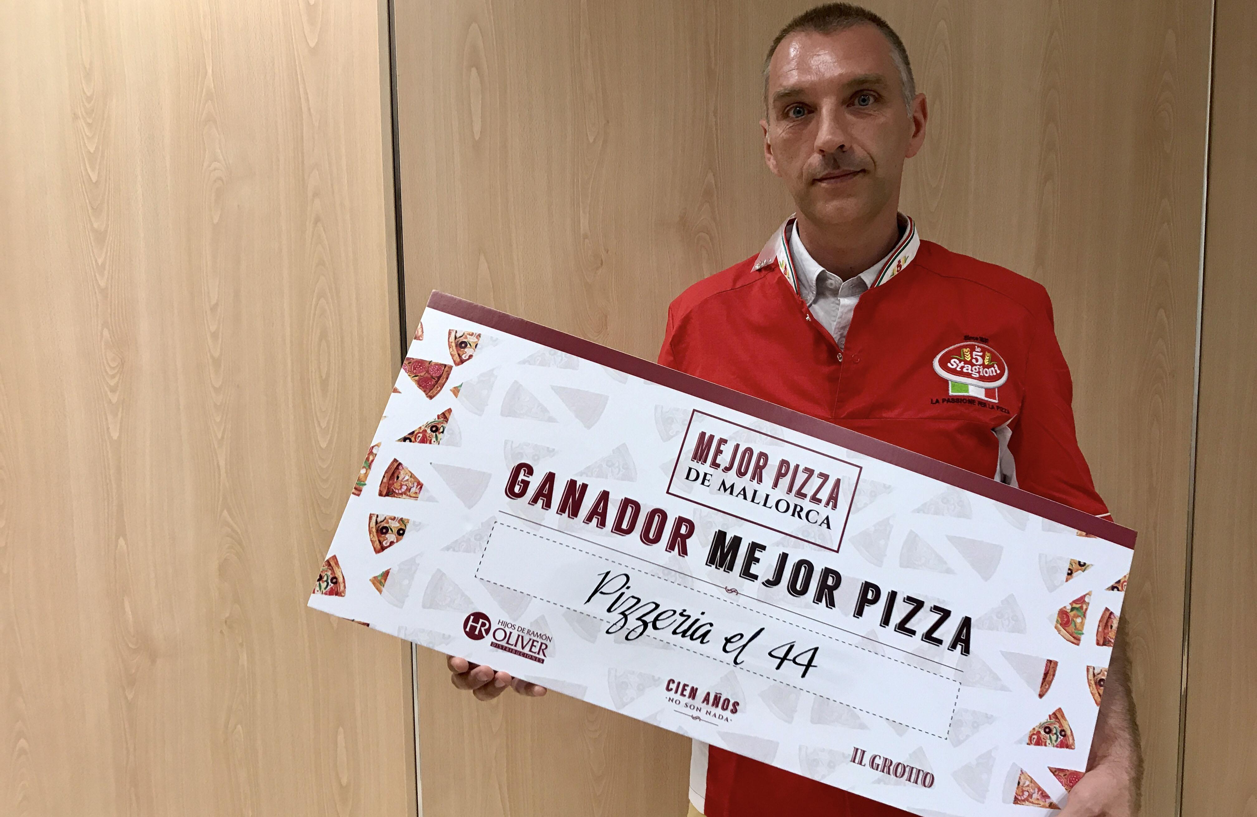 Sylvain, ganador del concurso de la Mejor Pizza de Mallorca